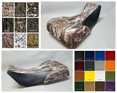 Yamaha YFM600 Grizzly 600 Seat Cover 2-tone DRT CAMO w/ Black sides OR 25 Colors