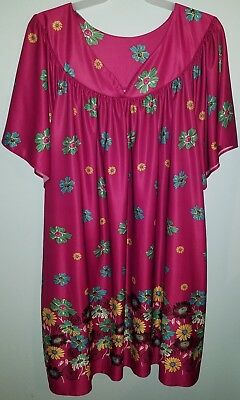 Anthony Richards Purple Knee Length Nightgown MuMu Womens Plus Size 4X NWOT