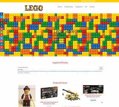 Automated LEGO business: Upto £174 per sale! Stocked/FREE Domain/Hosting/SSL/SEO