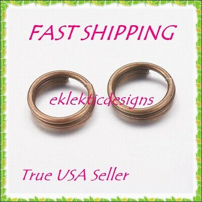 4mm 100pcs Antique Brass Bronze Split Dbl Jump Rings Jewelry Findings Earrings
