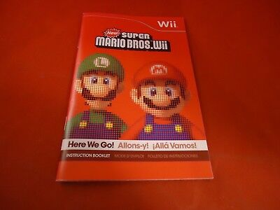 Super Mario 3d World Instruction Manual Booklet Only Wii U