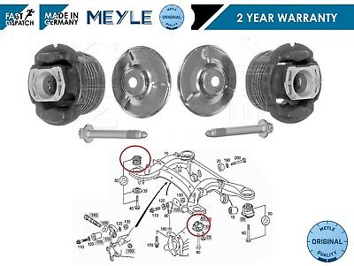 For Mercedes S Class W220 C215 Meyle Rear Axle Subframe Hub Bush Bushings Kit