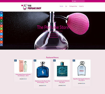 Automated PERFUMES business: Upto £120 per sale! Stocked/FREE Domain/Hosting/SSL