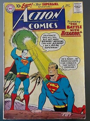 ACTION COMICS #252 (May 1959, DC) 1ST BIZZARRO APPEARANCE 3RD SUPERGIRL SUPERMAN