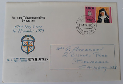 Rhodesia First Day Cover- 16 November 1970 Mother Patrick
