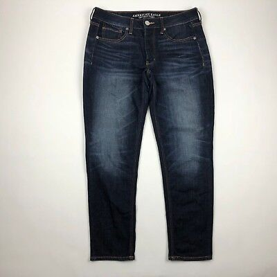 American Eagle Outfitters Button Fly TomGirl Dark Wash Skinny Leg Jeans sz  8R