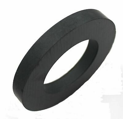 "Ferrite Donut / Ring Ceramic Magnet, Size  4"" OD, 2.33"" ID, 0.5"" Thick"