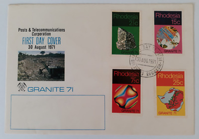 Rhodesia First Day Cover- 30 August 1971- Granite 71