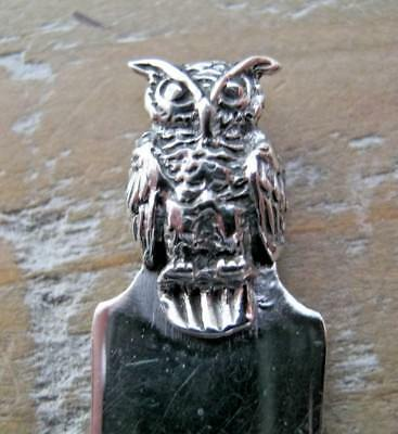 Beautiful Solid Silver Owl Bookmark