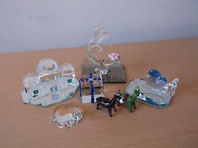 Small Mixed Lot Of Small Glass Animals & Other Items