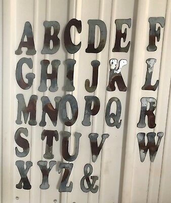 "6"" U- Distressed Galvanized Letter"