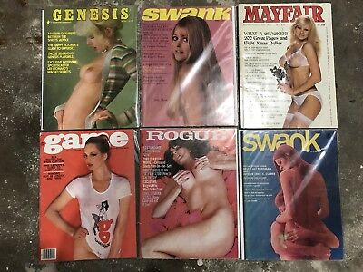 Lot Of (12) Assorted Vintage Mens Adult Magazines 60's-80's FREE SHIPPING!!!