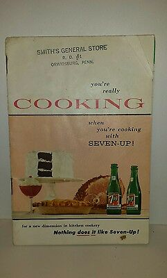 Vintage  1957 Cooking With Seven-Up 7-Up General Store Handouts Orwigsburg Penn.