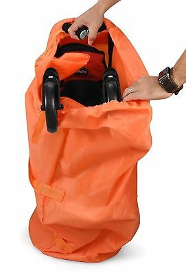 Sweet Baby Carrot Gate Check Umbrella Stroller Bag Easy Drawstring Orange