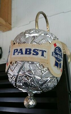 Vintage Pabst Blue Ribbon Beer Rotating Globe Sconce Sign ** as is