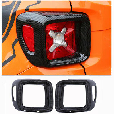 Audio & Video Accessories Carbon Fiber Taillight Lamp Cover Trim Frame for Jeep Renegade 2015-2016