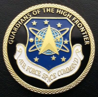 AIR FORCE SPACE COMMAND Guardian's Of The High Frontier Challenge Coin FREE COIN