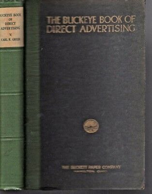 1925  BUCKEY BOOK OF DIRECT ADVERTISING ~ BECKETT PAPER CO ILLUSTRATED Printing