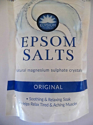 Epsom Salts natural magnesium sulphate crystals.
