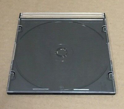 Lot of 10 x CD/DVD Blank Cases w/Black Tray Single Disc case