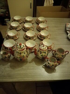 Services a the 12 personnes chinois/japan tres rare