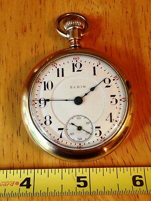 """1908 Elgin """"no. 349"""" Pocket Watch, 21 Jewels, Size 18S, Fahys Gold Filled Case"""