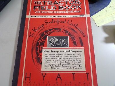 The Tractor Field Book 1934