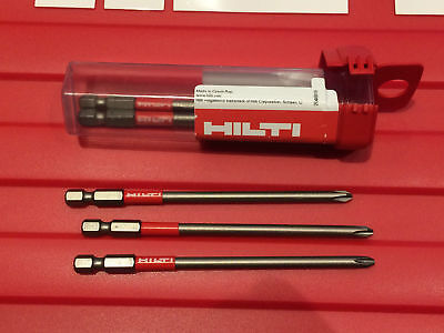 3x HILTI BITS for SMD 57. SMD 50. SD 5000. SD 4500. SD 6000. SD 2500. SF 4000