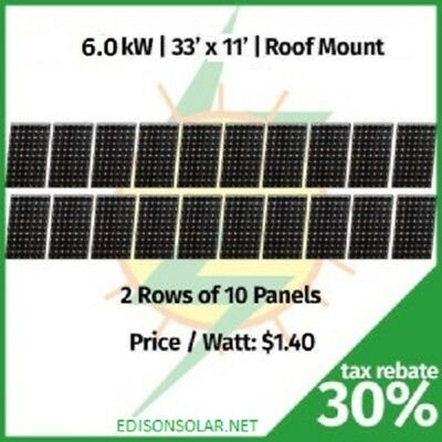 NY 6KW HOME solar panel kit, grid tie inverter, polysilicon solar