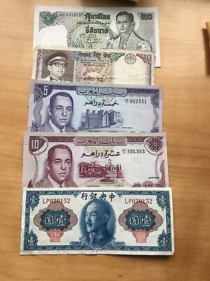 Foriegn Currency Lot Thailand, China, Marraco