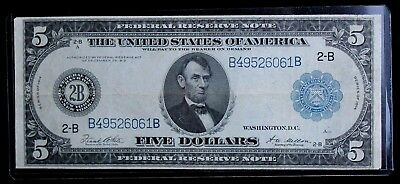 1914 LARGE $5 Federal Reserve Note