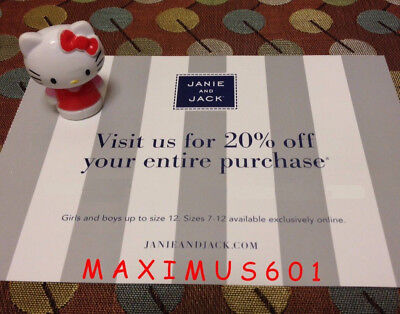 Janie and Jack 20% Off Entire Purchase Code Expires 7/31/18