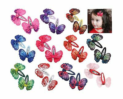 Toptim Baby Girl Hair Clips Toddlers Infants Kids Hair Butterfly Snap Clips B...