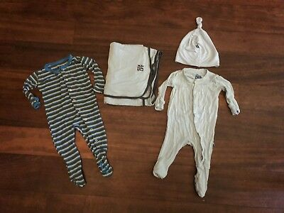 Kickee Pants Lot One pieces, hat, swaddle