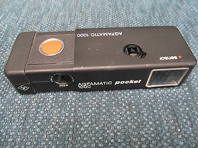 1970's VINTAGE Agfa 1000 POCKET CAMERA - Black