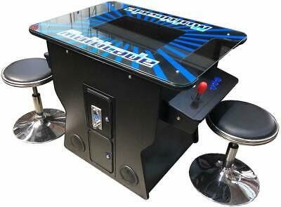 Classic 412 Games Cocktail Retro Arcade Machine - Free Shipping - Free Stools