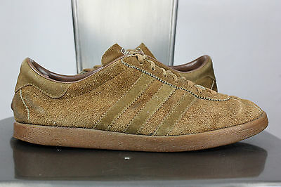 0815c112a4381 VINTAGE ADIDAS TOBACCO UK 8 US 8.5 made in france shoes sneakers leather
