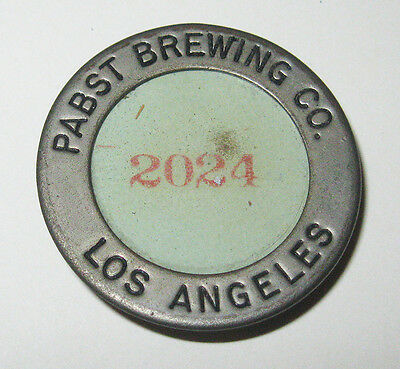 Vintage 1950s Pabst Brewing Co. Los Angeles Badge Employee Security #2024