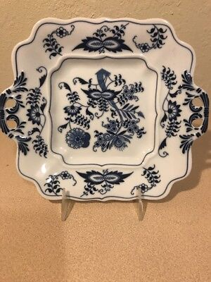 BLUE DANUBE Onion Ribbon Handled Cookie Plate