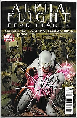 Alpha Flight #1 SIGNED by Greg Pak Fear Itself Dynamic Forces COA Limited to 150