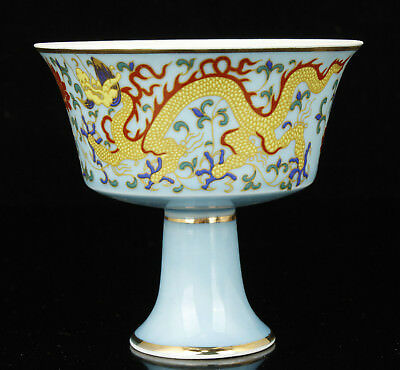 China Collectible Handwork Carving Exquisite Painting Porcelain Cup