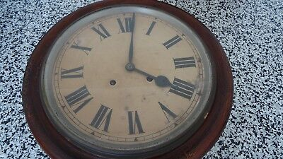 Antique railway station clock with key (Chiming) Original - not a Reproduction