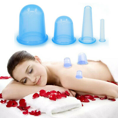 Silicone Vacuum Cup Anti Cellulite Cupping Therapy Massage Body Facial Cups Set