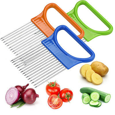 Green Onion Egg Fruits Slicer Cutting Aid Guide Holder Slicing Cutter Home Use