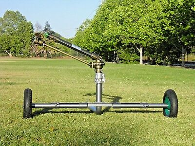 "New Yuzauk Jet 50T 2"" Gear Drive Rain Gun Sprinkler With New 2"" Gun Cart 300Ft"