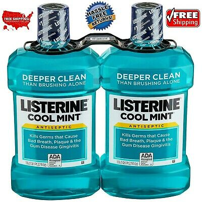 Listerine CoolMint Antiseptic (1.5L, 2 pk.) **NEW** FREE SHIPPING / FREE RETURNS