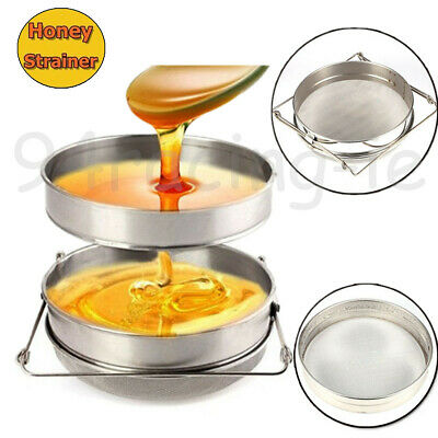 Honey Tea Leaf Filter Strainer Double Layer Stainless Steel Beekeeping Tools