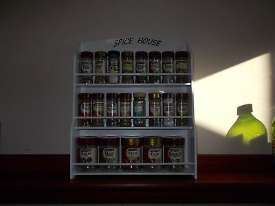 Spice Rack will hold up to 30 jars SPICE HOUSE  IN WHITE  ( Made in Australia