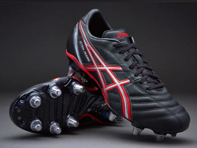 ASICS Lethal Charge, Men's Rugby Boots Black Size UK 8.5 EU 43.5 rrp £90 NH01 51