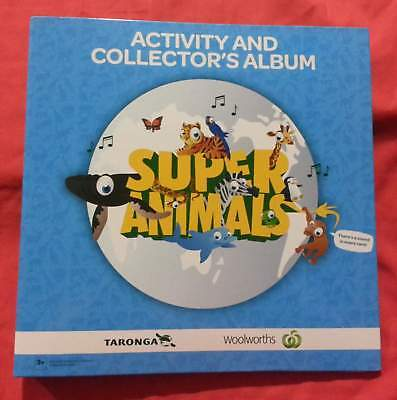 """Woolworths """"Super Animals"""" Blue Activity & Collector's Album - Album ONLY - NEW"""